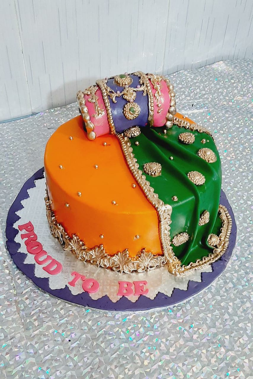 mehndi cake for dholki