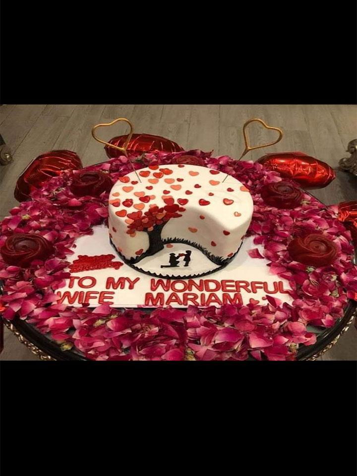 Rose Anniversary Cake