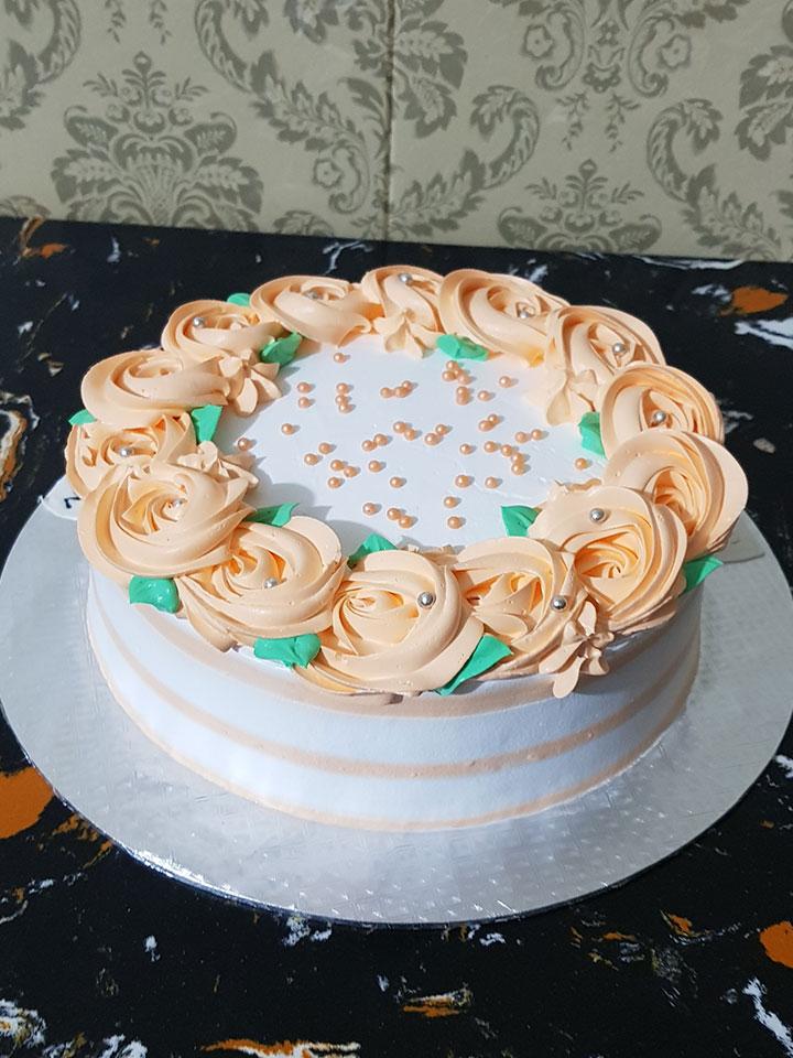 Orange Theme Cake
