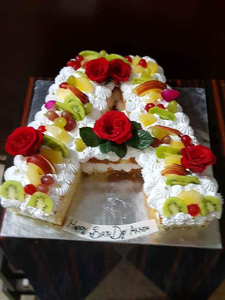 Alphabet Letter Cake