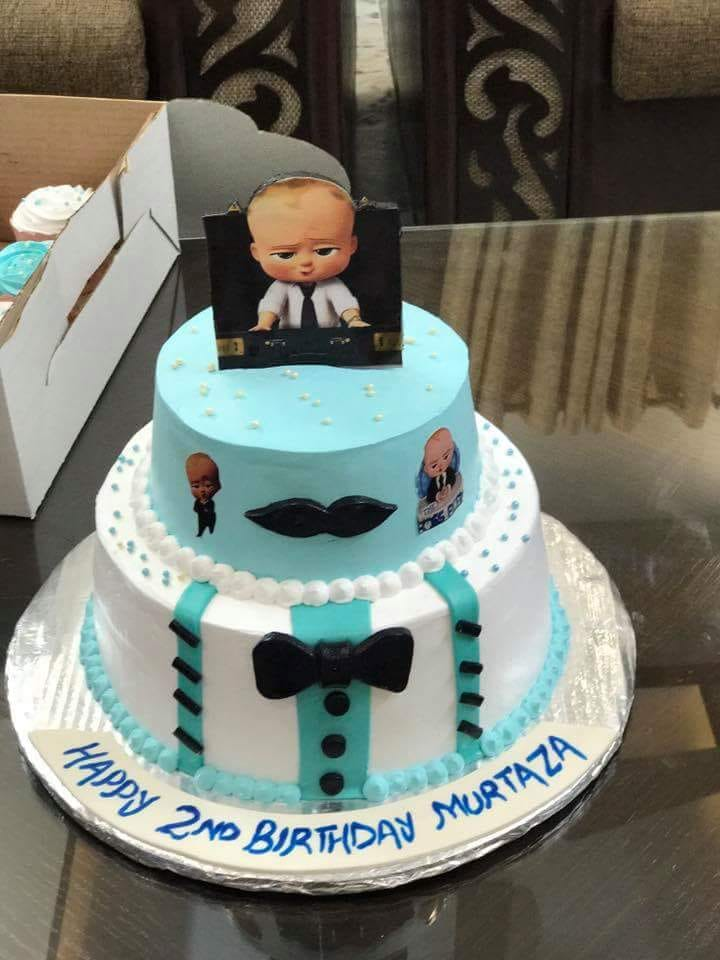 Fine Get The Most Delicious Black Boss Baby Cake At The Low Prices Personalised Birthday Cards Paralily Jamesorg
