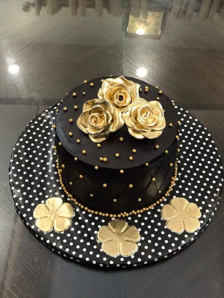 Golden Black Cake