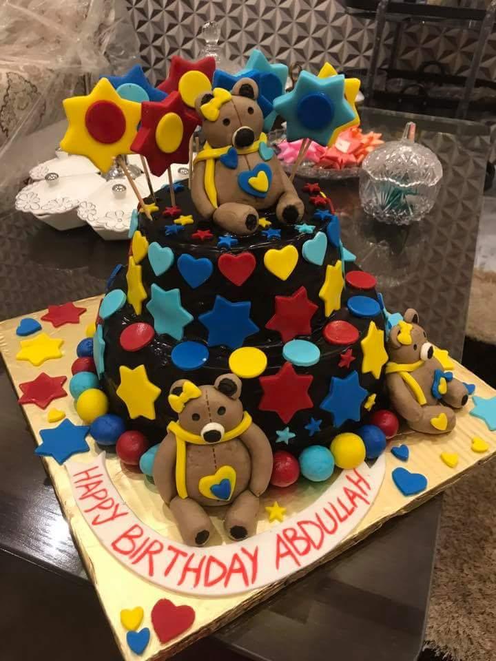Get Blue Teddy Bear Cake Online In Pakistan