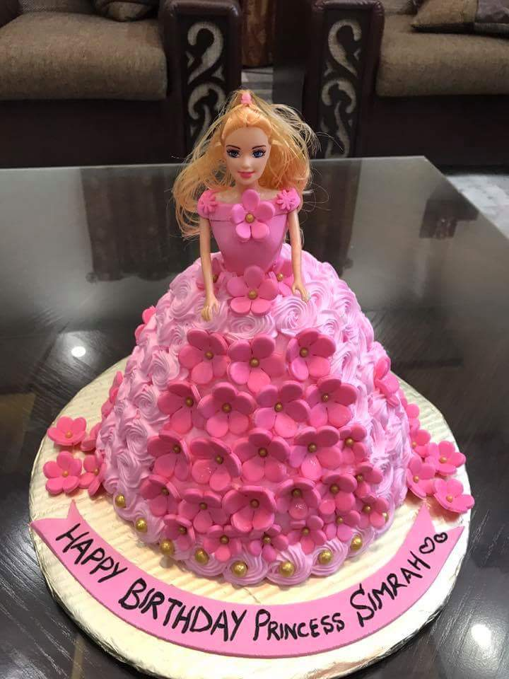 Marvelous Buy Barbie Doll Kids Cake Online At Fair Price Cakes Com Pk Funny Birthday Cards Online Sheoxdamsfinfo