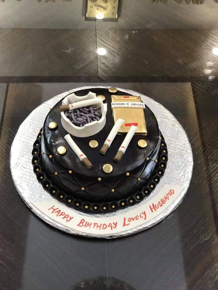 Smoke Theme Cake