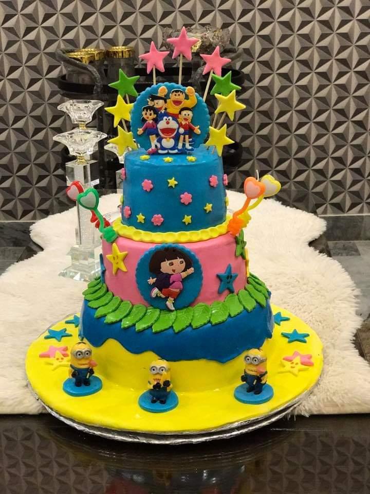 Cartoon Theme Cake