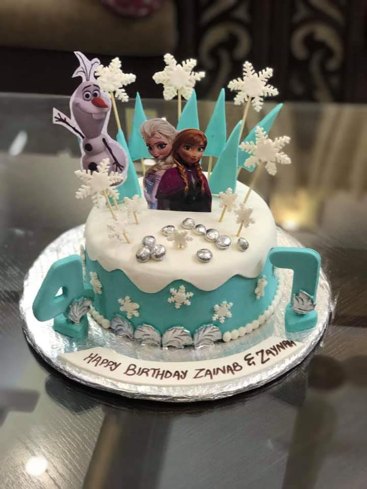 Get This Beautiful Design Of Elsa Cake For Your Doll S
