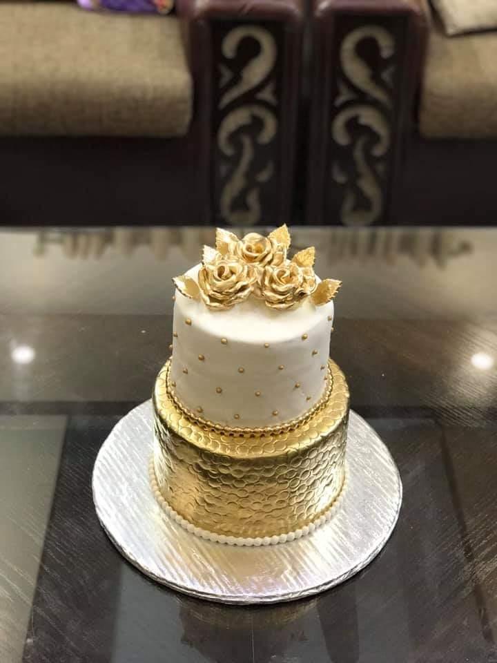 White Golden Cake