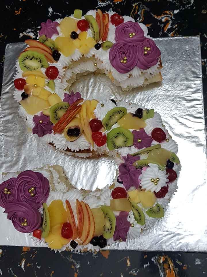 Alphabet Name Cake