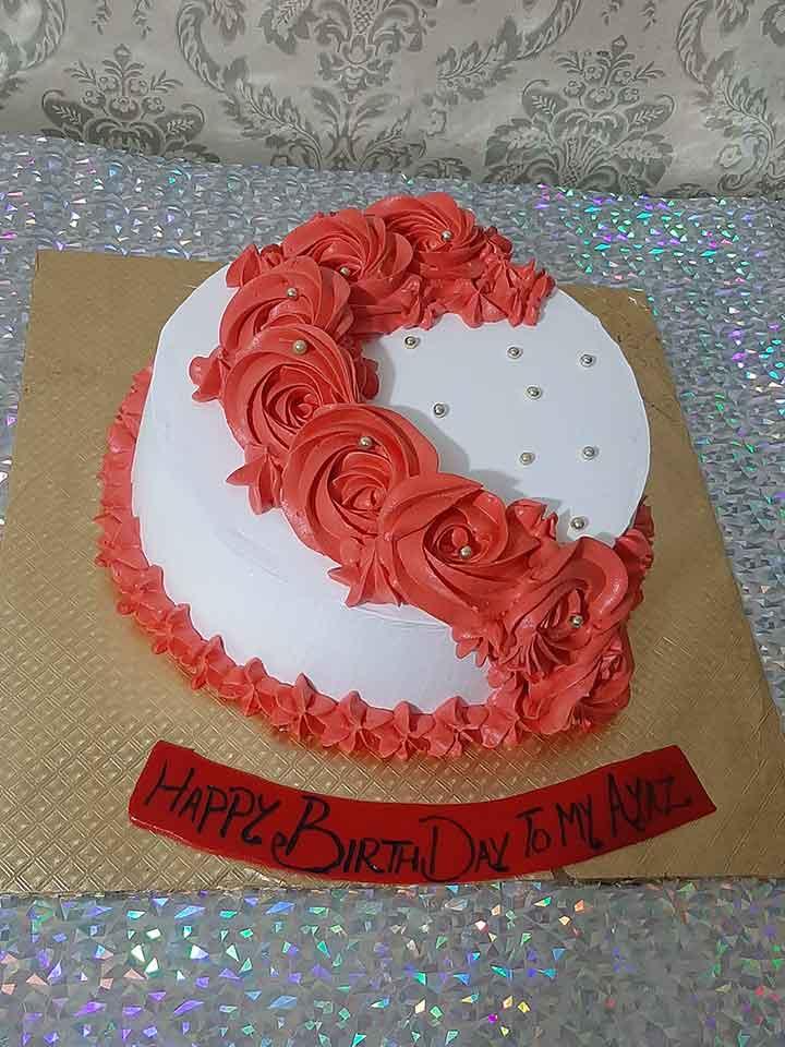 Red Flower Cake