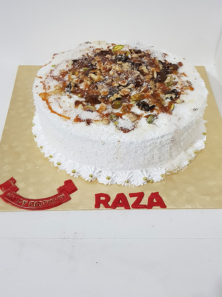 Coconut with Nuts Cake