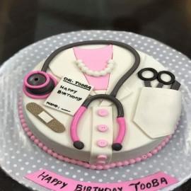 Medical theme birthday cake design