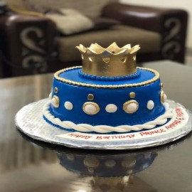 princes baby shower cake