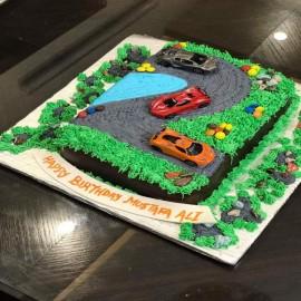 Honda car theme cake