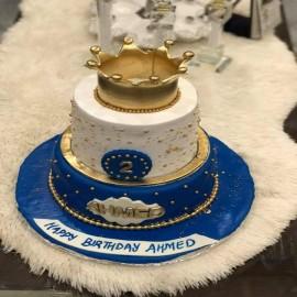 crown birthday cake