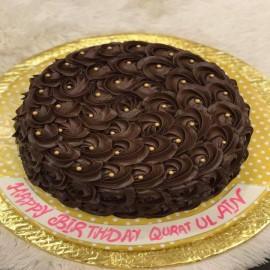 Dark brownie cake