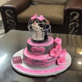 customized engagement cake