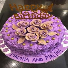 rosette flower cake