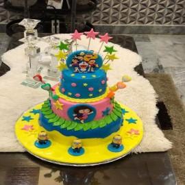 Mario theme cake