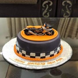 Heavy bike theme cake