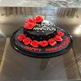 Black fondant cake online