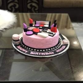 Beauty Makeup Cake
