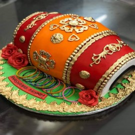 dhol shaped cake