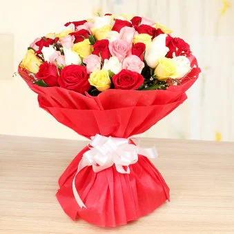 Red & White Flower